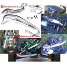 DDM DOMINATOR CHROME PIPE for FG MARDER/ MT5 MONSTER TRUCK | DFD130