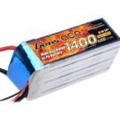 LIPO BATTERY 1400mAh 40C FOR 450 HELI WITH EC3 PLUG (GA-B-40C-1400-6S1P) |GEN22.2V1400
